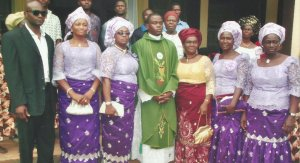 Mum & some of her siblings at her nephew's ordination